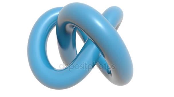 Forgó fehér alapon kék csomót