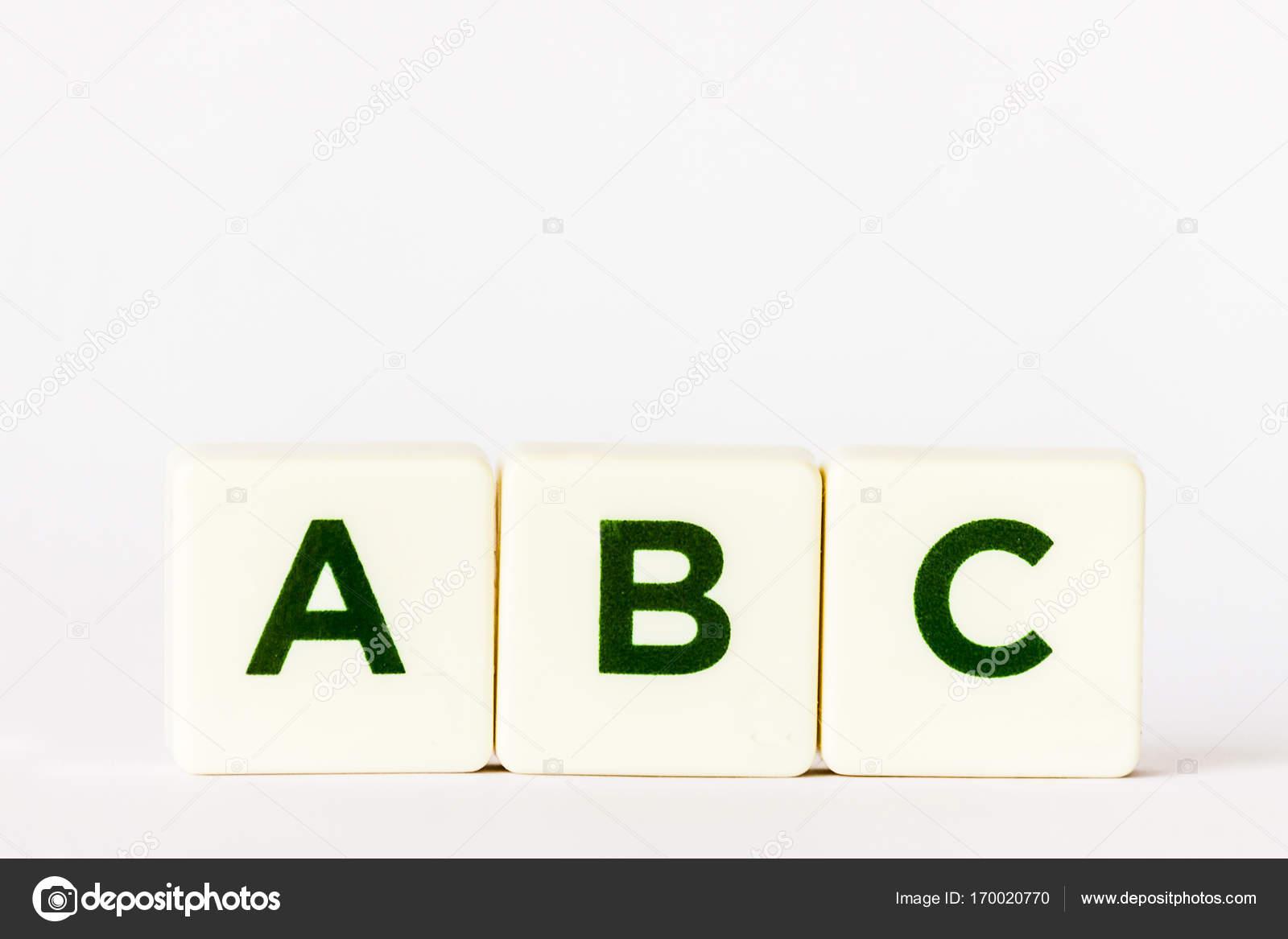 ABC Su Piastrelle Bianche Foto Stock