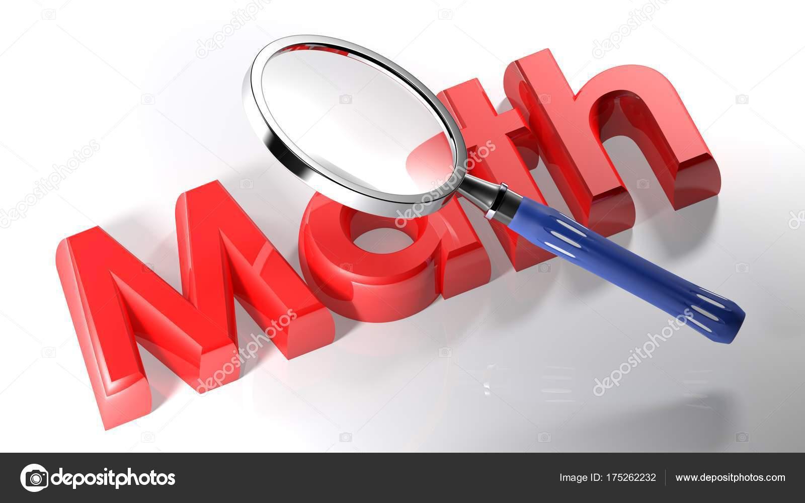 Eine Lupe Ist über Das Schreiben Mathe Geschrieben Mit Roten