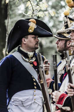 French napoleonic captain and platoon