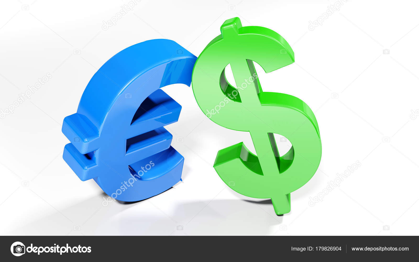 Euro Dollar Symbols Rendering Stock Photo Carlotoffolo 179826904