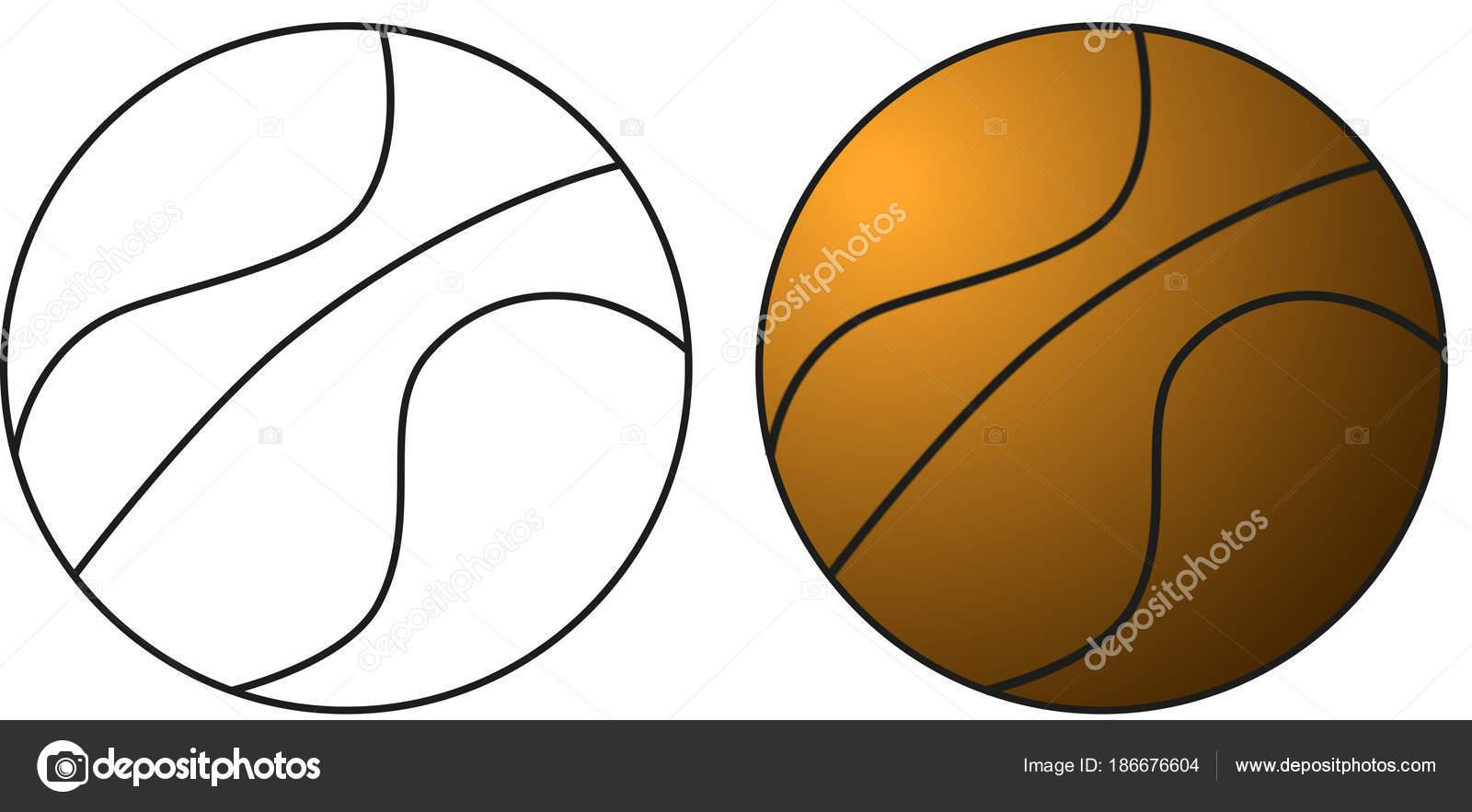 desenho uma bola basquete para ser colorido desenho mesmo colorida