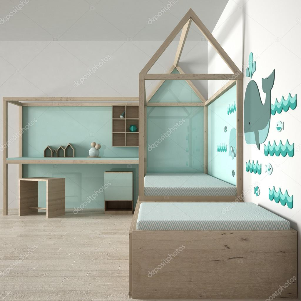 Design camera da letto bambini foto stock archiviz for Camera letto design