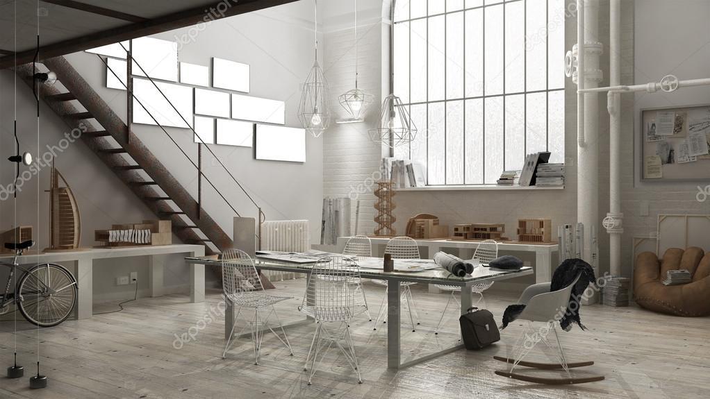 Industrieel interieur, office design — Stockfoto © ArchiVIz #126231216