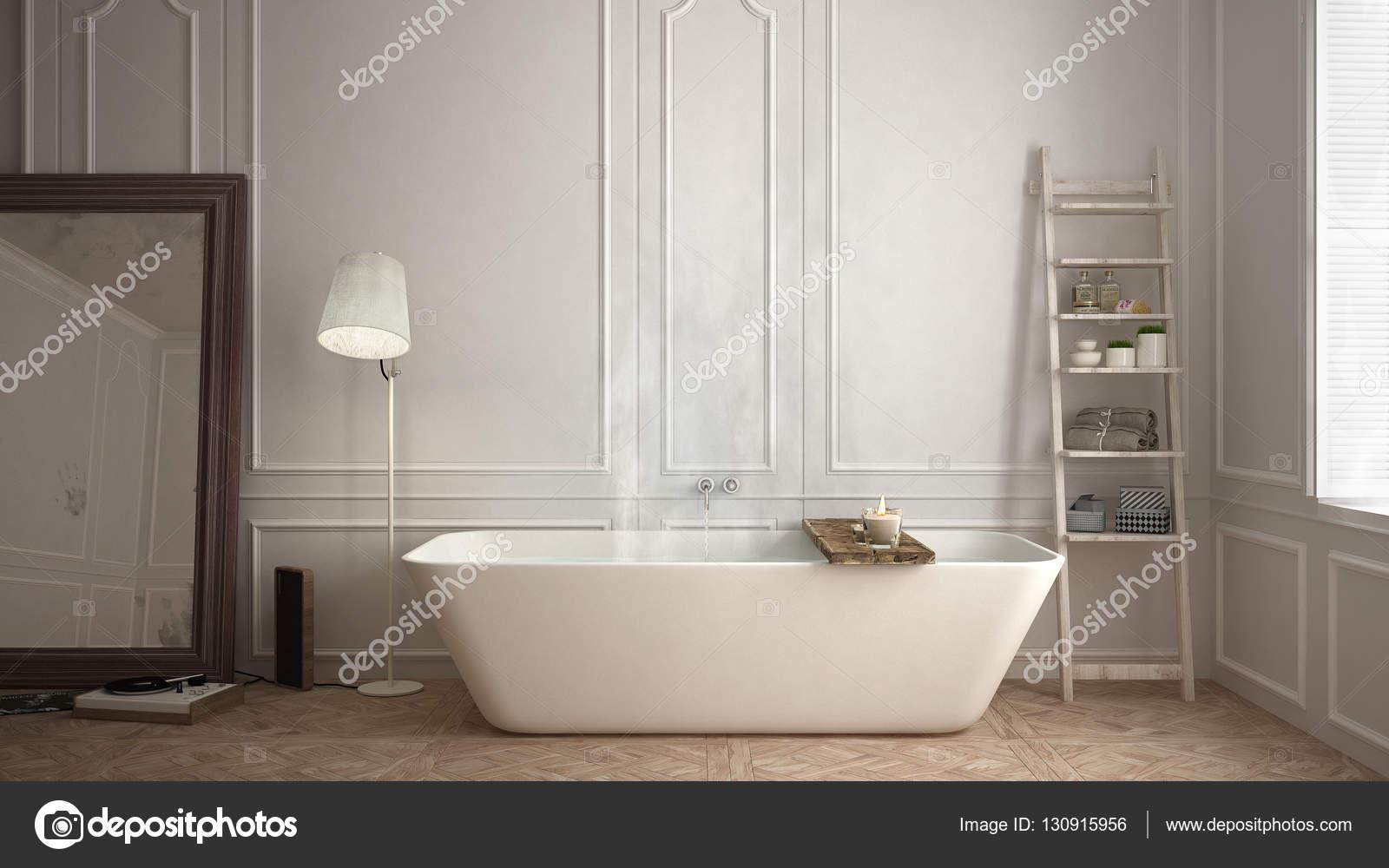 Scandinavische badkamer witte minimalistisch design hotel spa reso