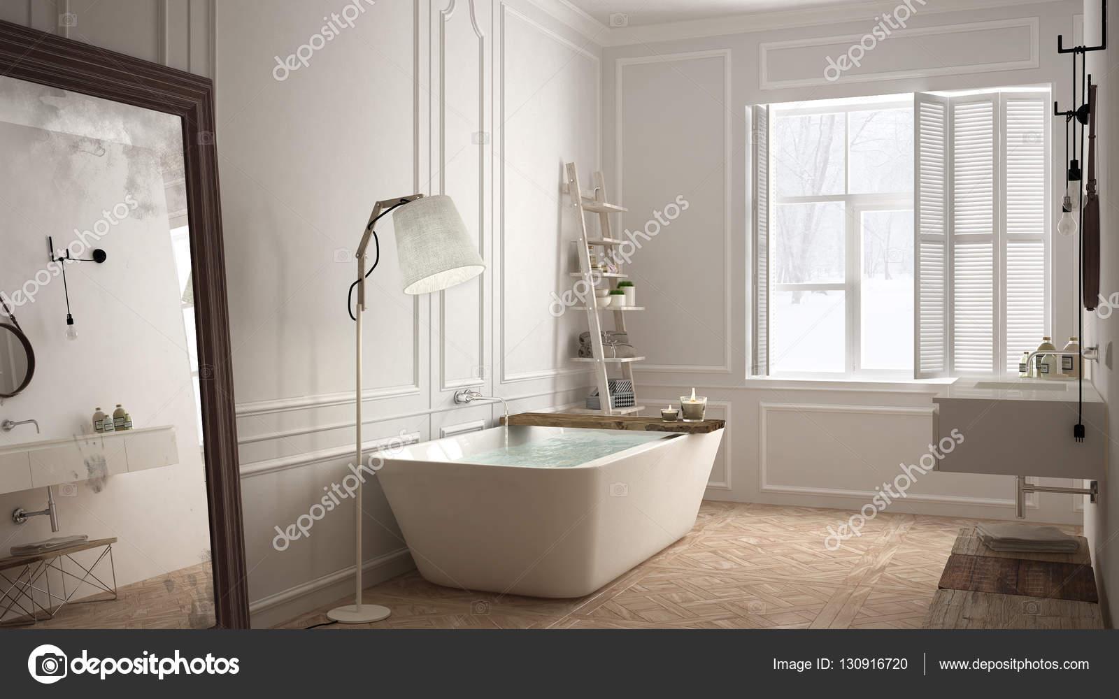 Scandinavische badkamer witte minimalistisch design hotel spa