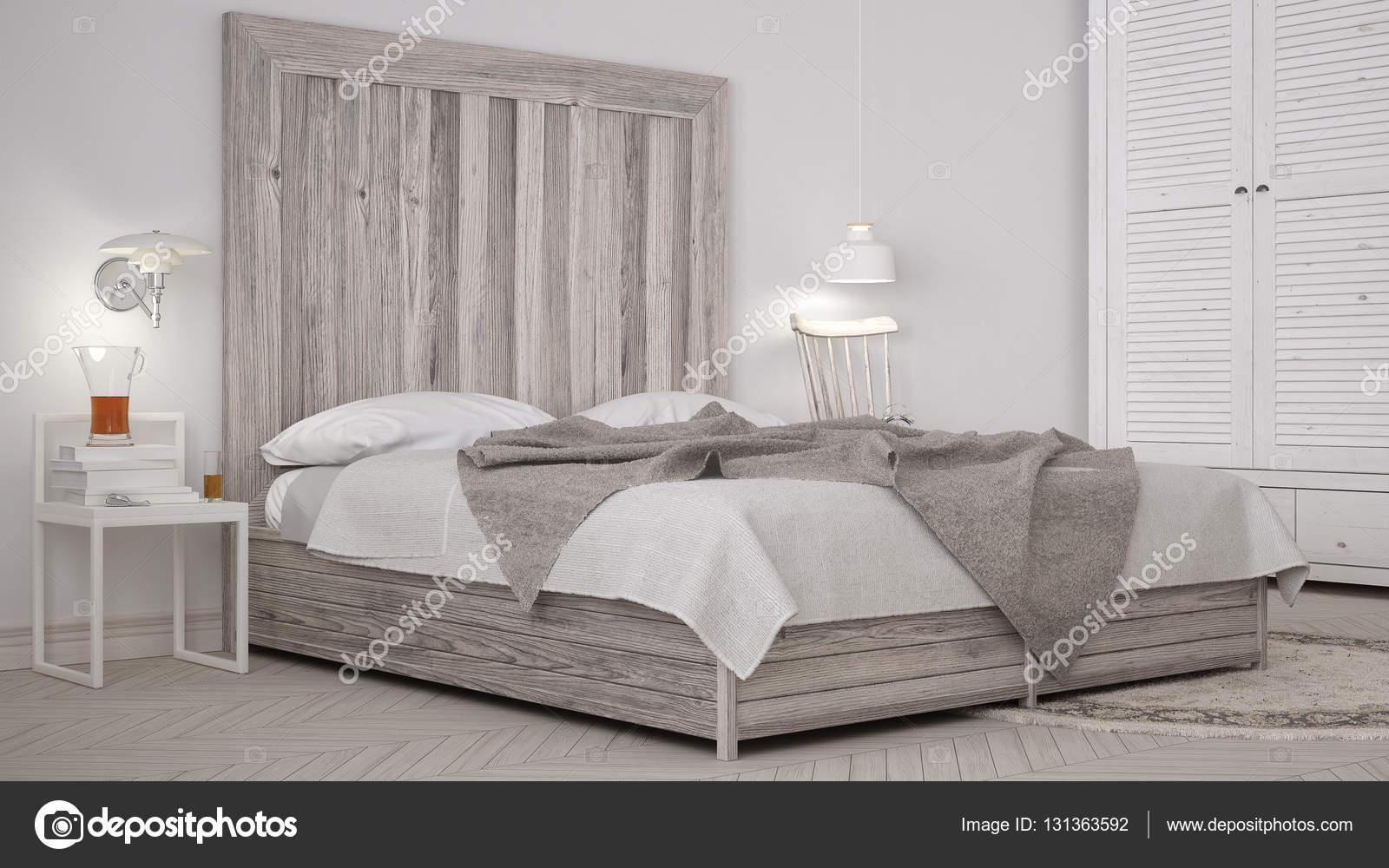Fai da te camera da letto, letto con testiera in legno, design chic ...