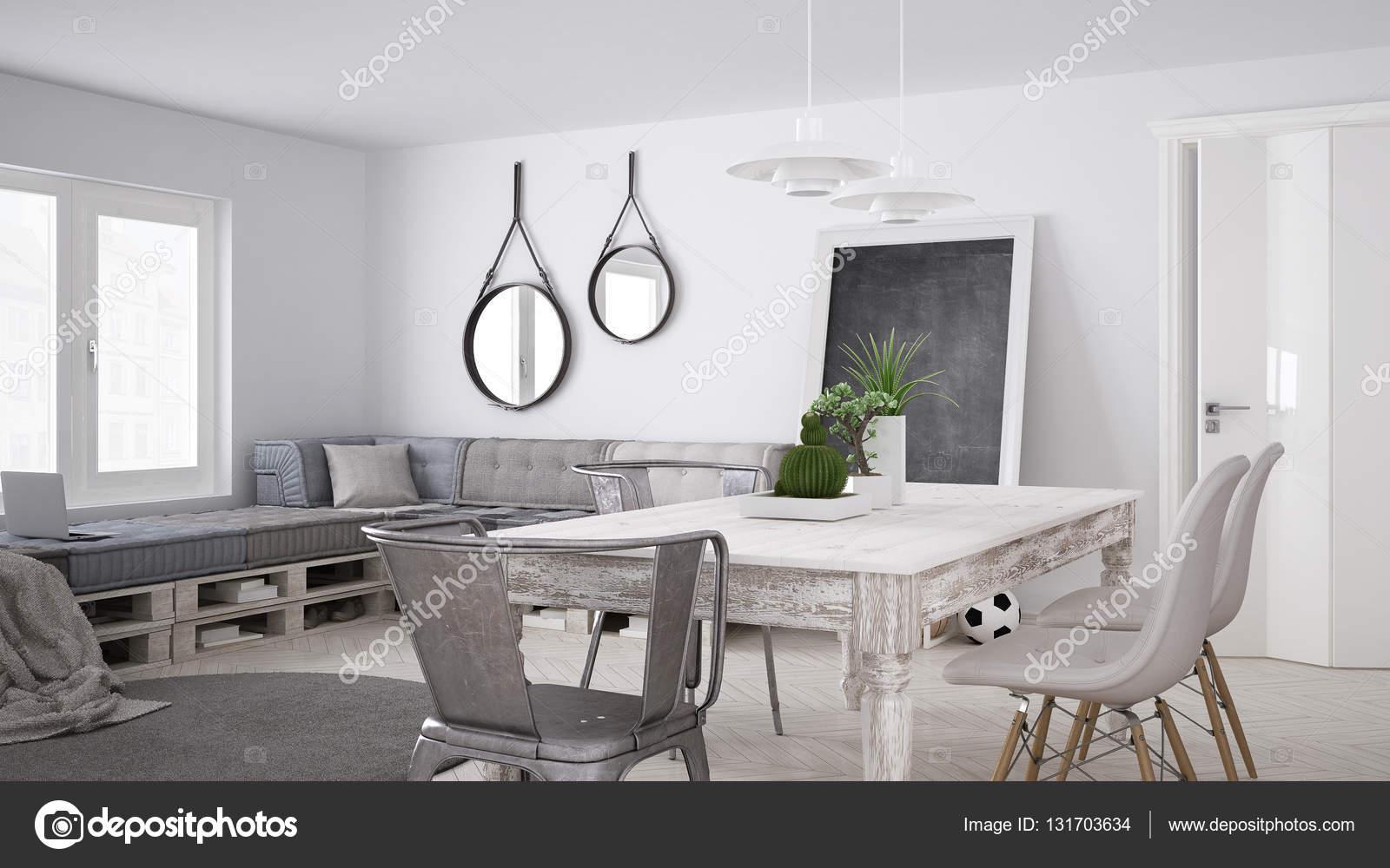 DIY-Couch Sofa, Palette, skandinavischen weiß wohnen, Interieur desi ...