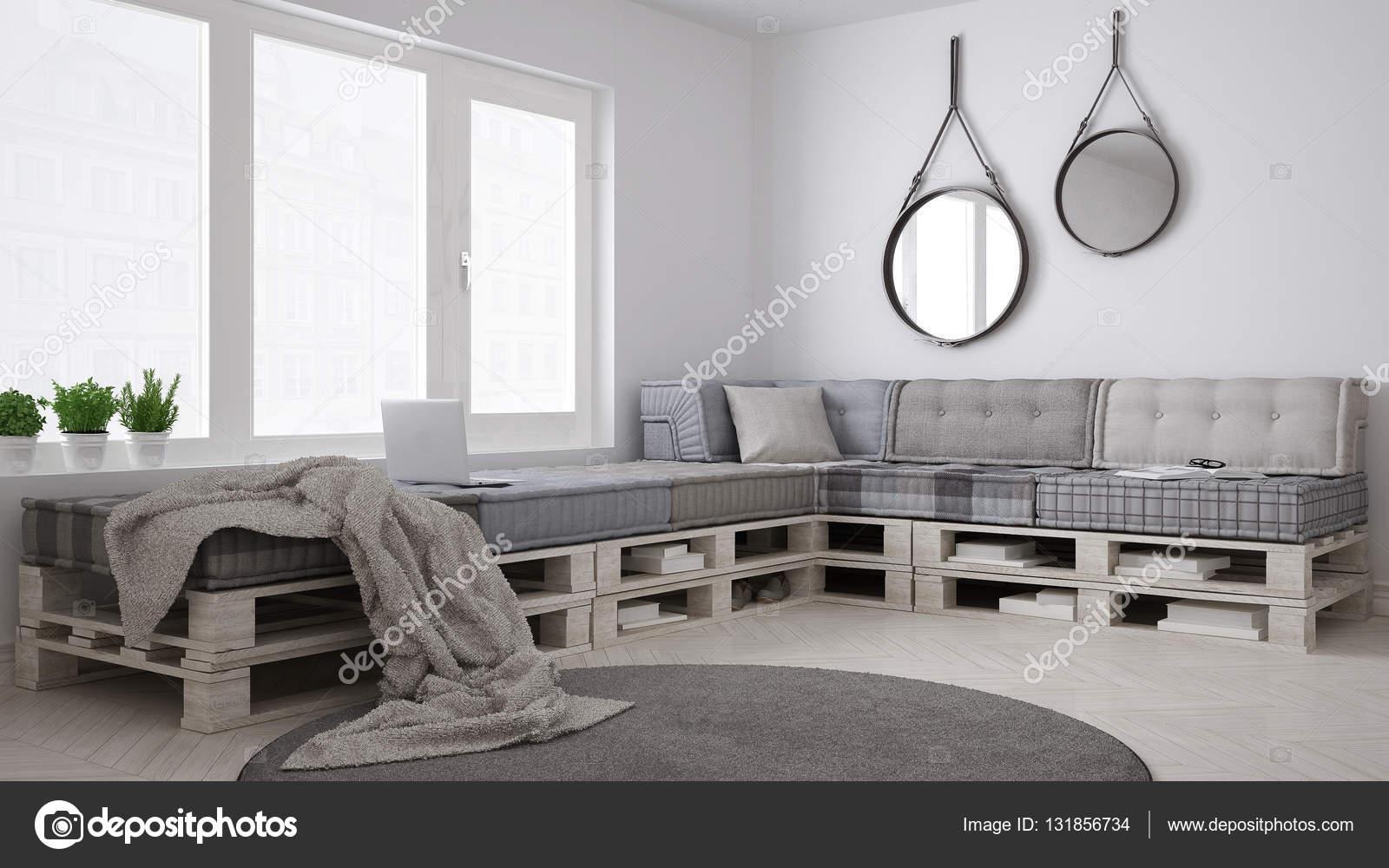 DIY-Palette Couch Sofa, skandinavischen weiß wohnen, interior desig ...