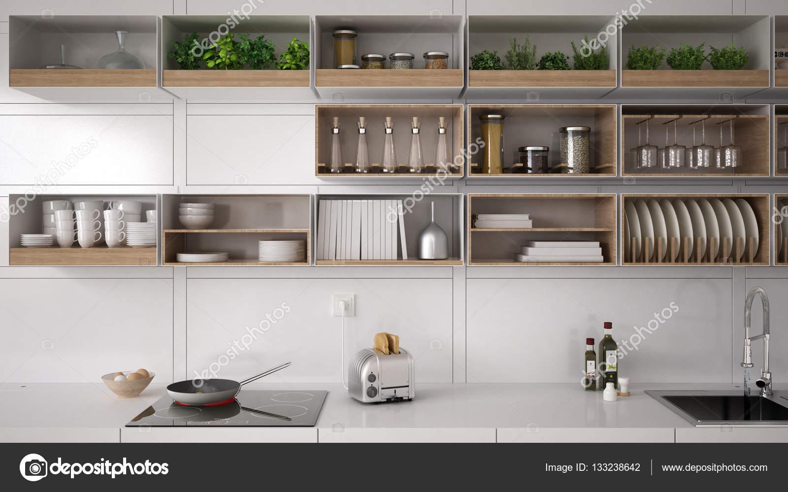 scandinavian white kitchen shelving system minimalistic interi rh depositphotos com ikea kitchen shelving system ikea kitchen shelving system