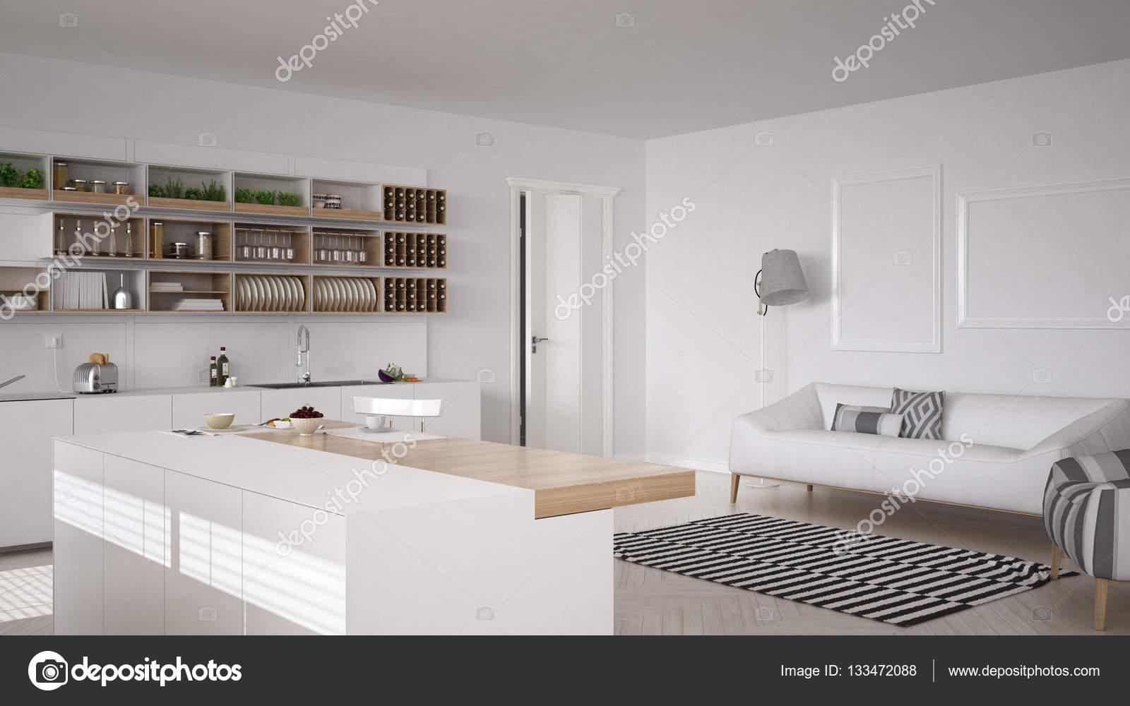 Minimalistisch interieur zithoek renovatie woonkamer door