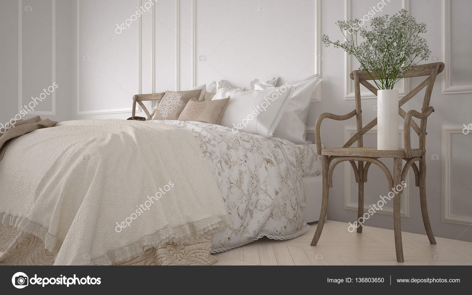 Arredamento Minimalista Camera Da Letto : Arredamento camera da letto classica minimalista bianco u foto