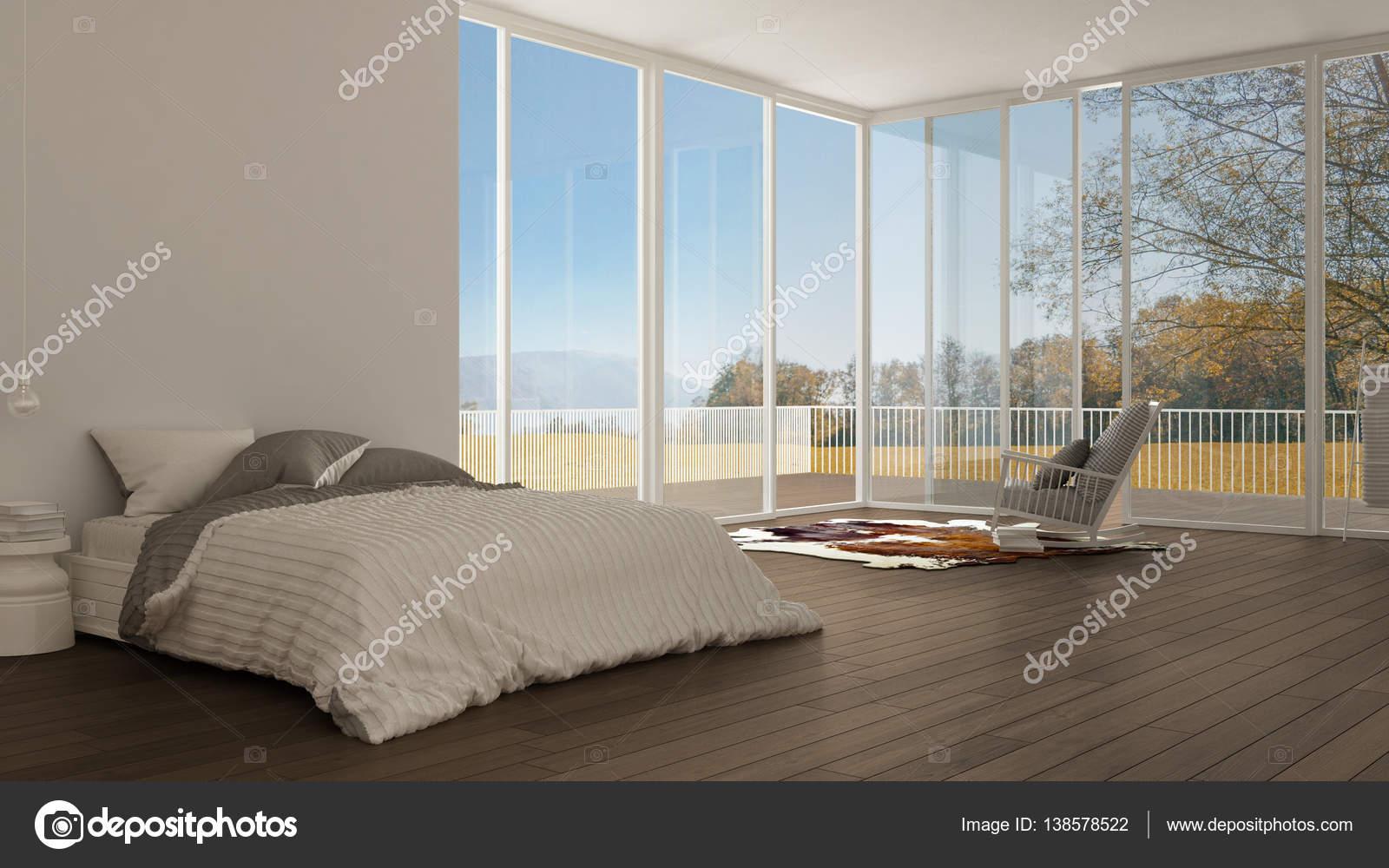 Klassisches schlafzimmer minimalistische weiße innenarchitektur