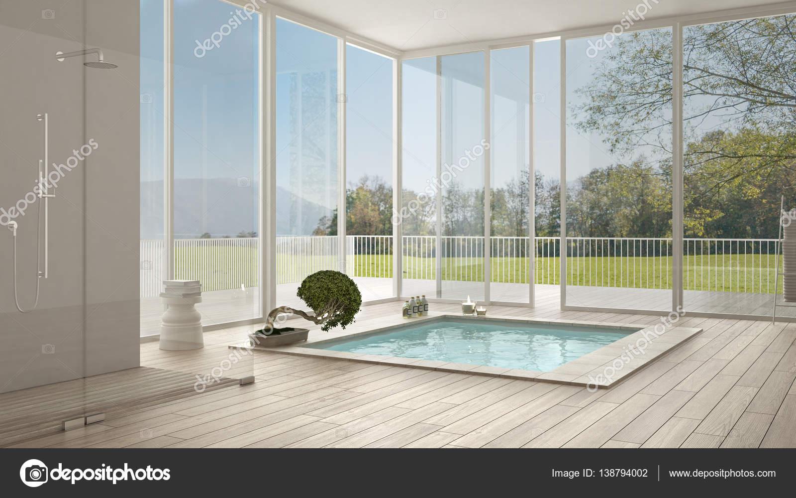 Suite Parentale Avec Salle De Bain Verriere ~ Salle De Bain Scandinave Blanc Minimaliste Design D Int Rieur Gros