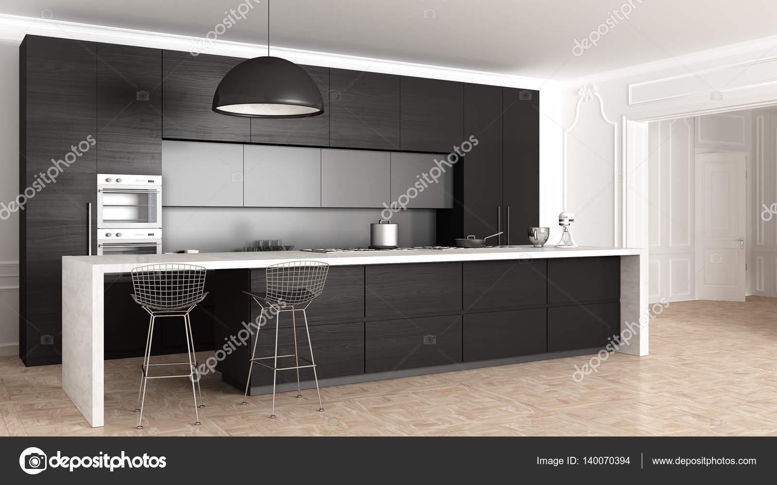 Cucine classiche, arredamento minimalista — Foto Stock ...