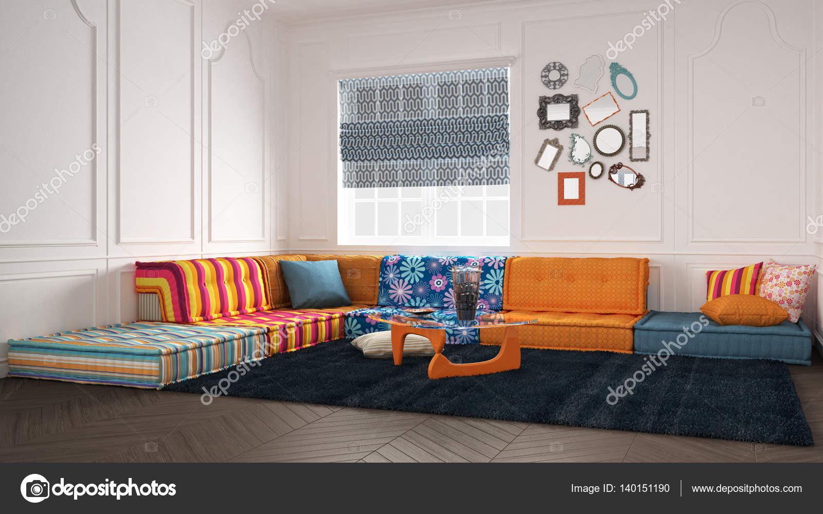 Klassiker Mit Farbigen Moderne Couch Sofa Stockfoto C Archiviz