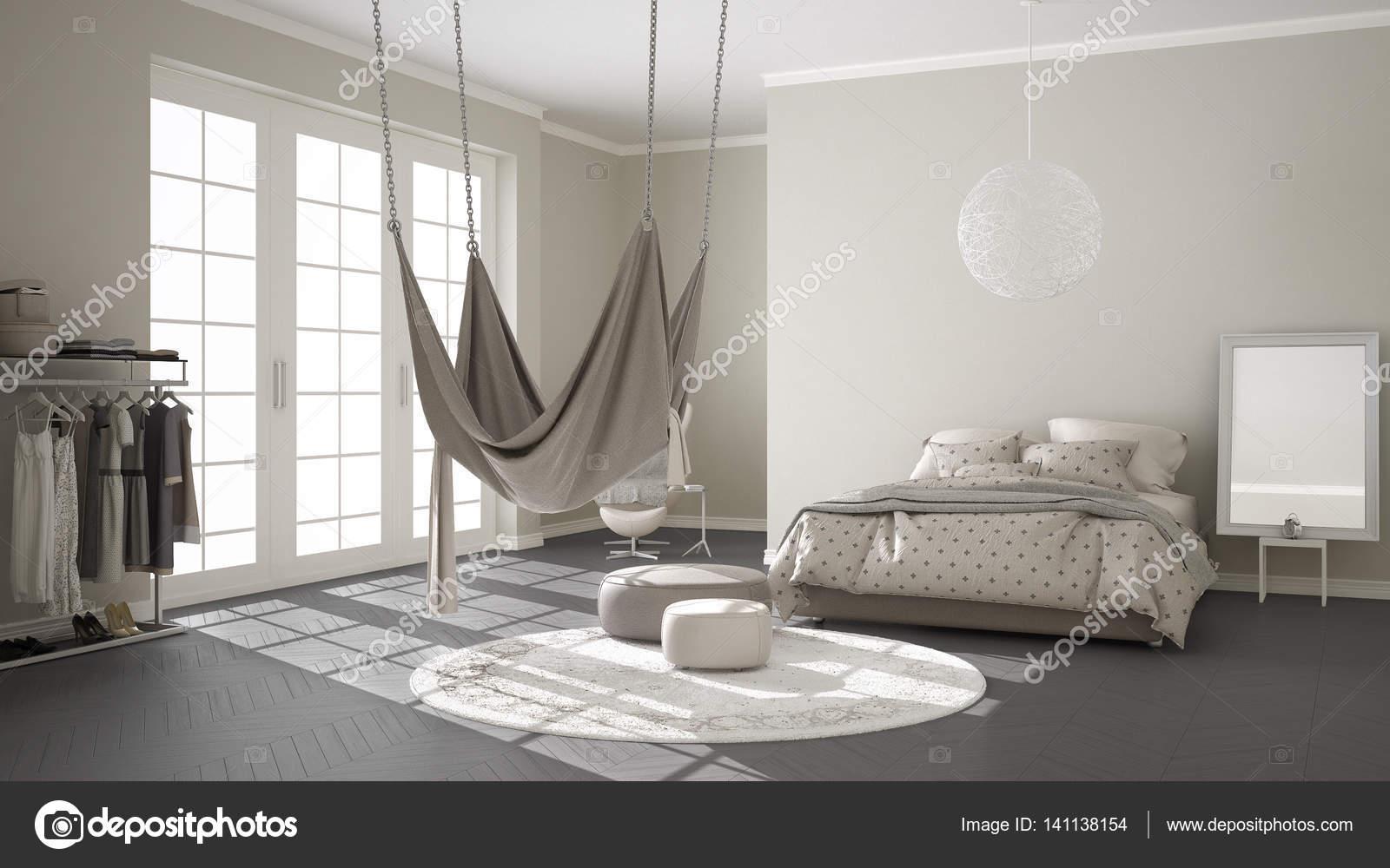 Klassieke slaapkamer minimalistische interieur met