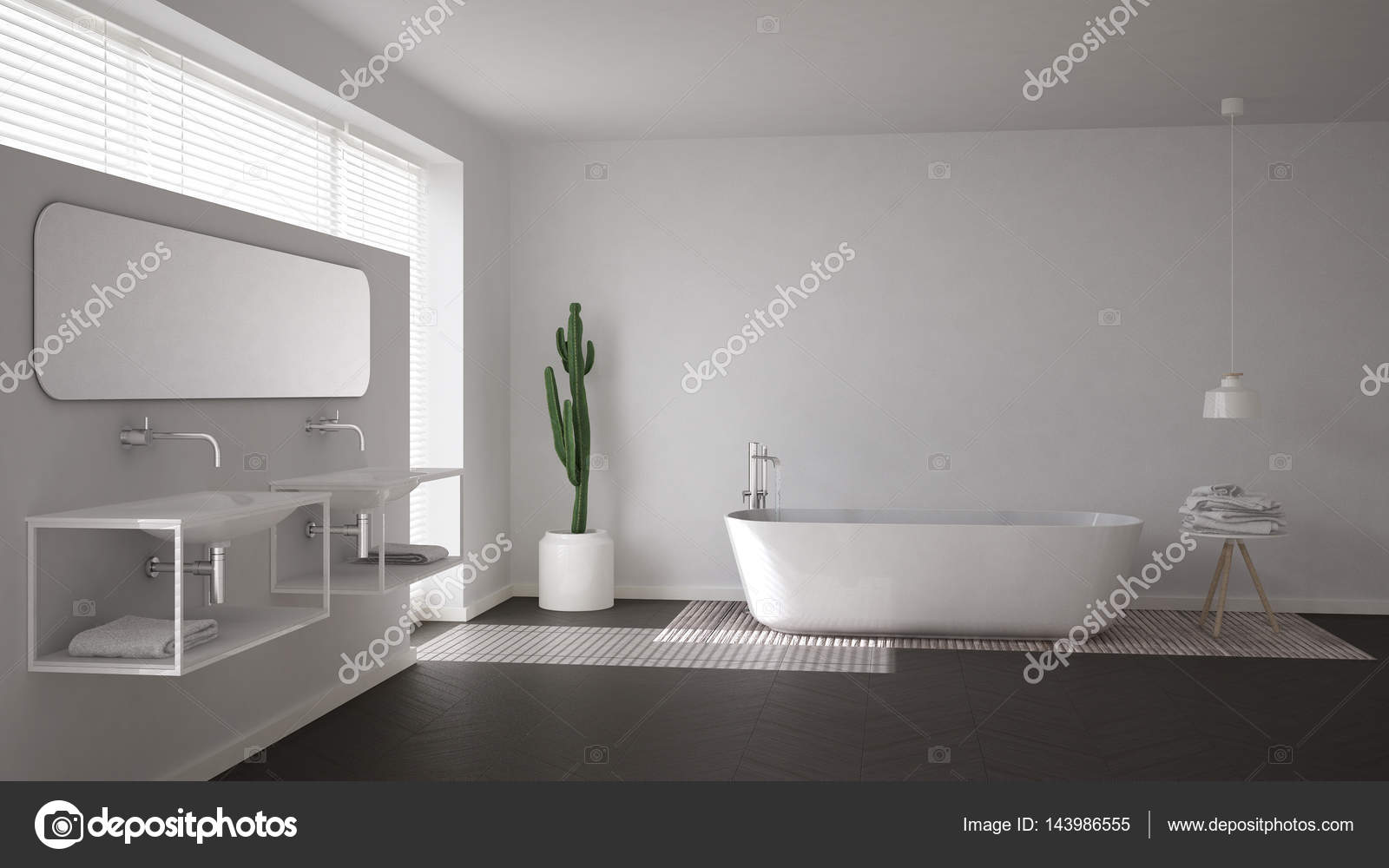 Bagno Design Scandinavo : Bagno scandinavo bianco minimalista interior design u2014 foto stock