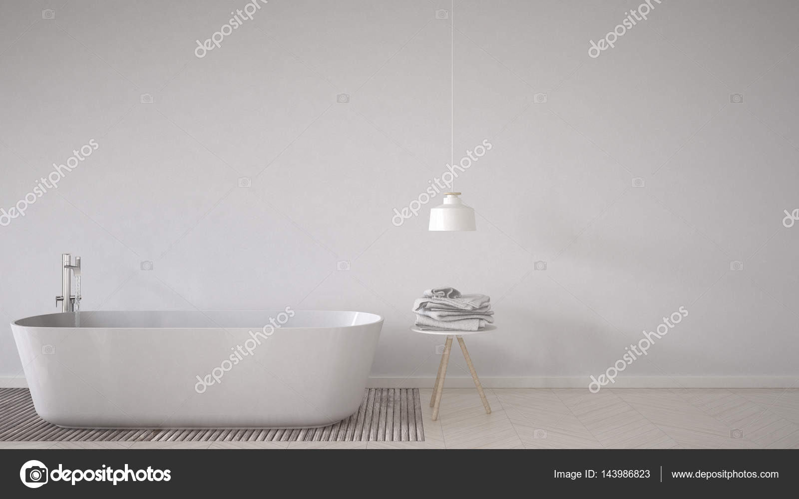 Vasca Da Bagno Bassa : Priorità bassa scandinavo bagno vasca da bagno tavolo e lampada su
