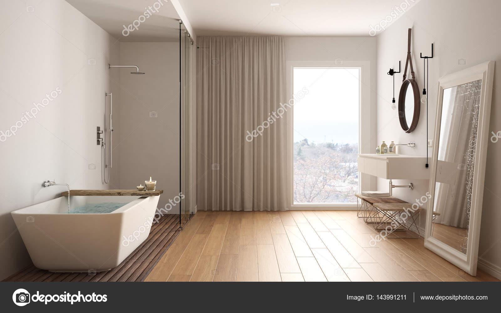 Klassieke badkamer modern minimalistisch interieur u stockfoto