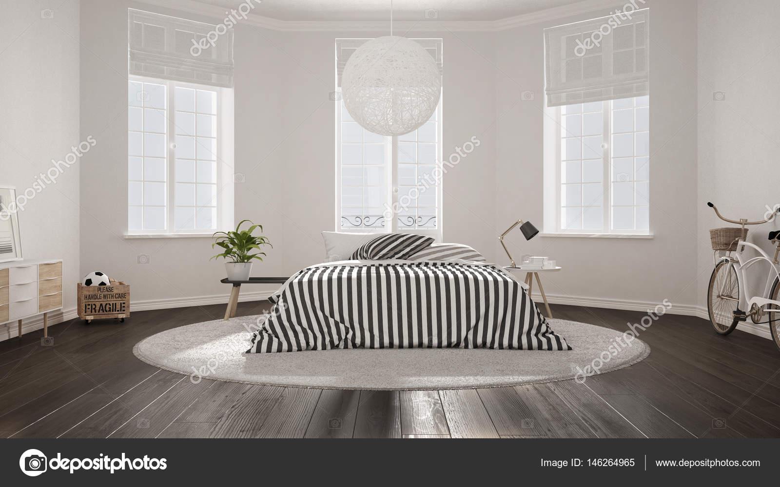 Camere Da Letto Nordiche : Camera da letto minimalista nordico bianco interni in stile