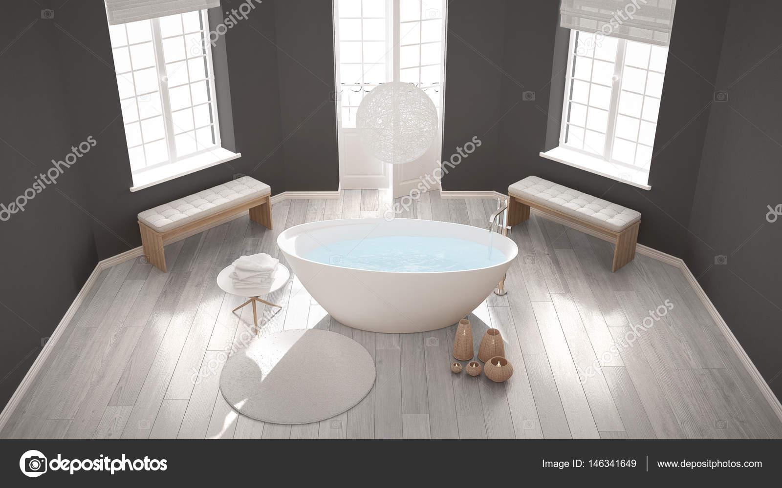 Vasche Da Bagno Zen : Zen centro benessere classico bagno con vasca da bagno minimalista