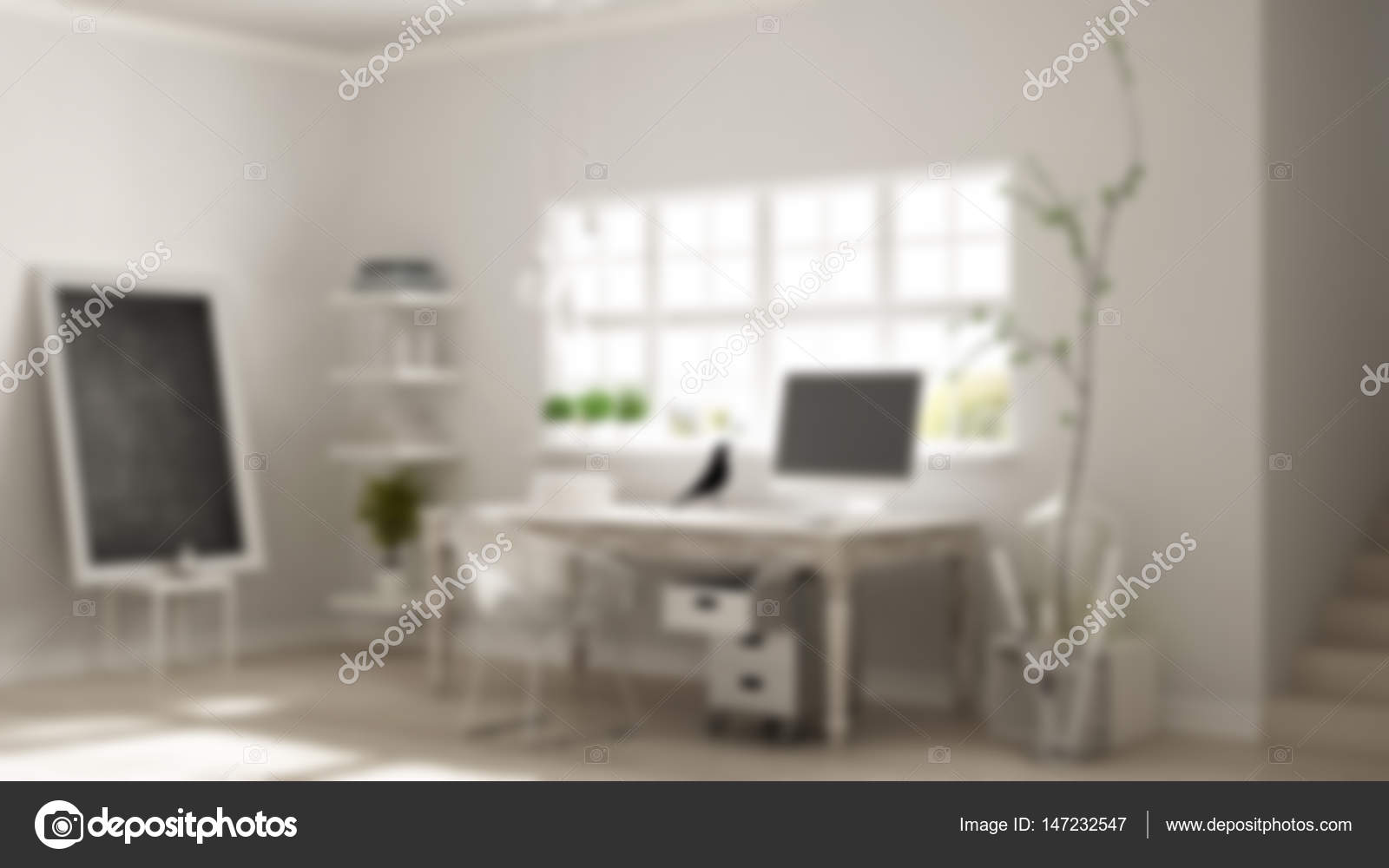 download design home office corner. blur background interior design, home workplace, scandinavian house room corner office \u2014 photo by archiviz download design n