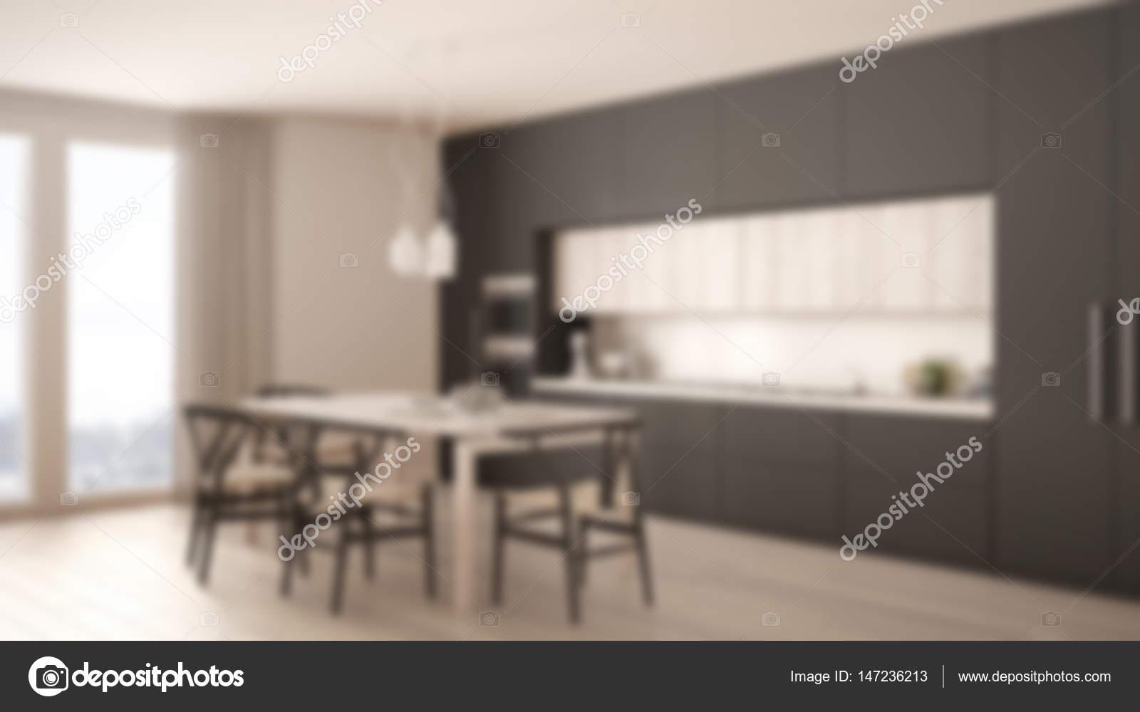 Modern Interieur Wit : Blur background interior design modern minimal gray kitchen wit
