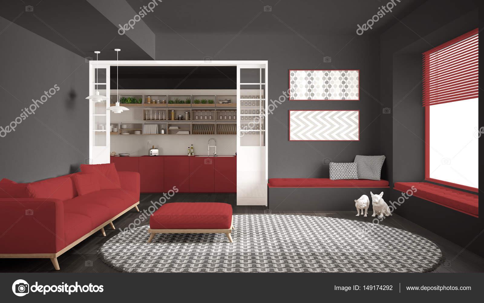Tappeti Per Camere Da Letto Classiche : Camera minimalista living con divano grande rotondo tappeto e
