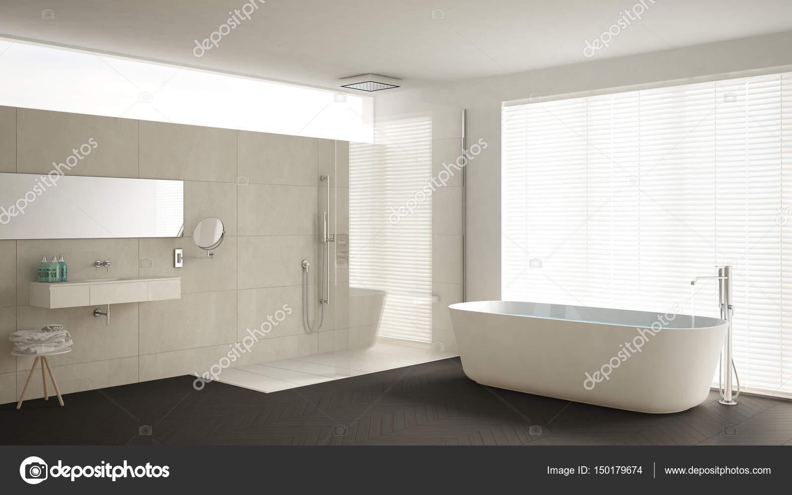 Vasca Da Bagno Espanol : Stanza da bagno con vasca e doccia pavimento in parquet e m