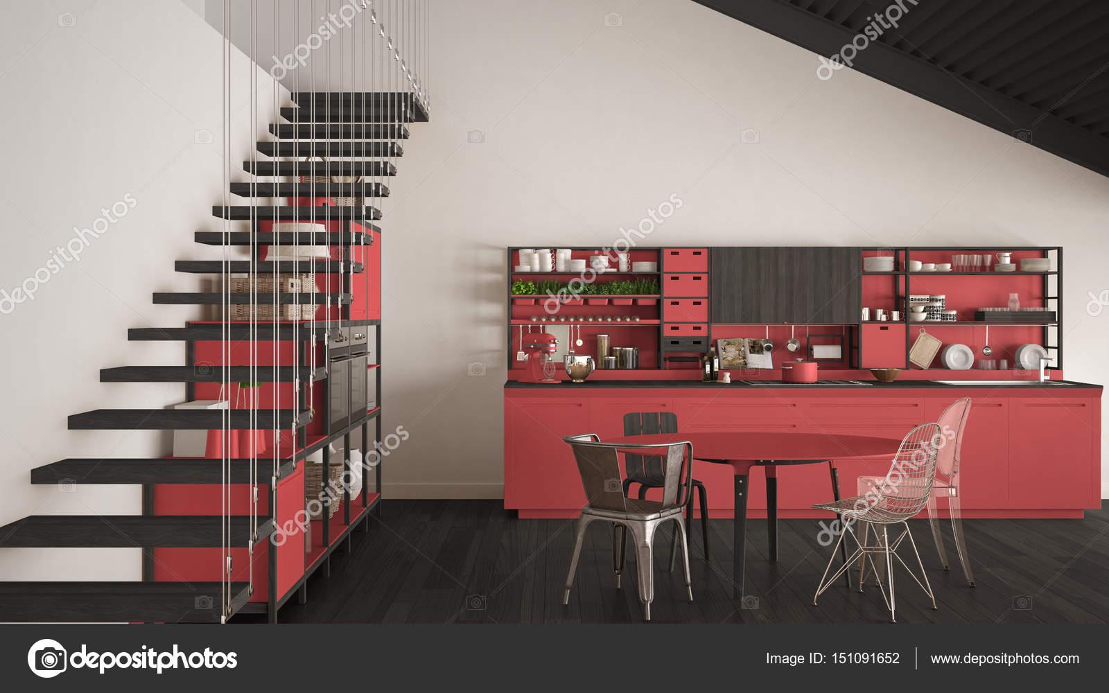 Escalera cocina armarios de cocina bajo la escalera with for Barra bajo escalera