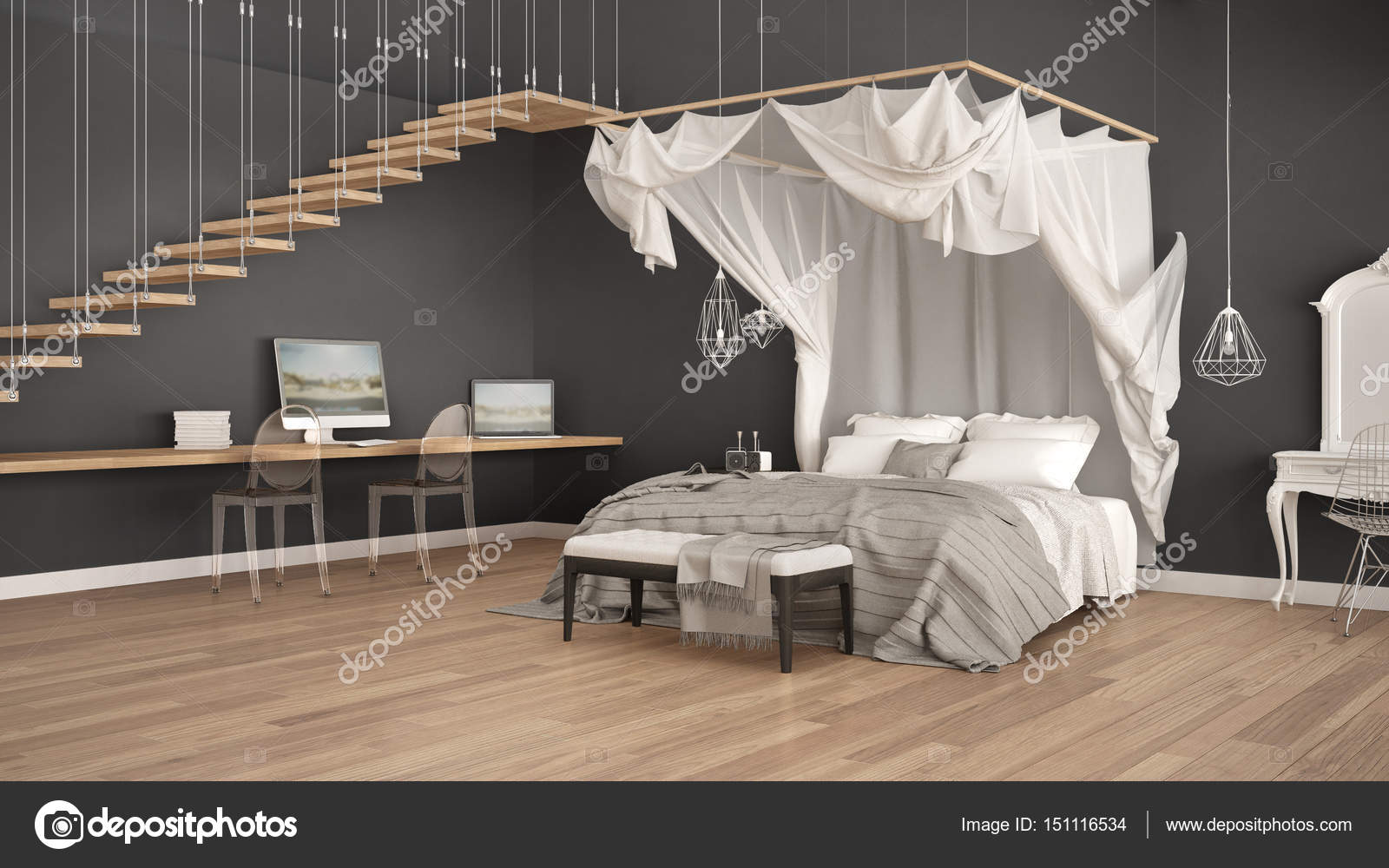 Hemelbed In Slaapkamer : Veel opbergruimte in poolse slaapkamer slaapkamer ideeën