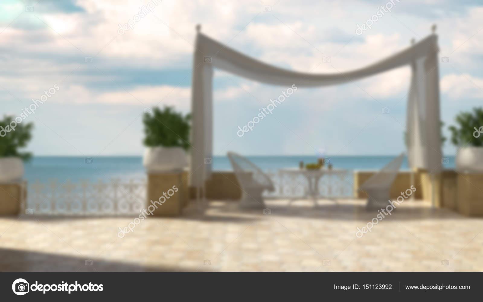 Desenfoque De Fondo Diseño De Interiores Terraza Clásico