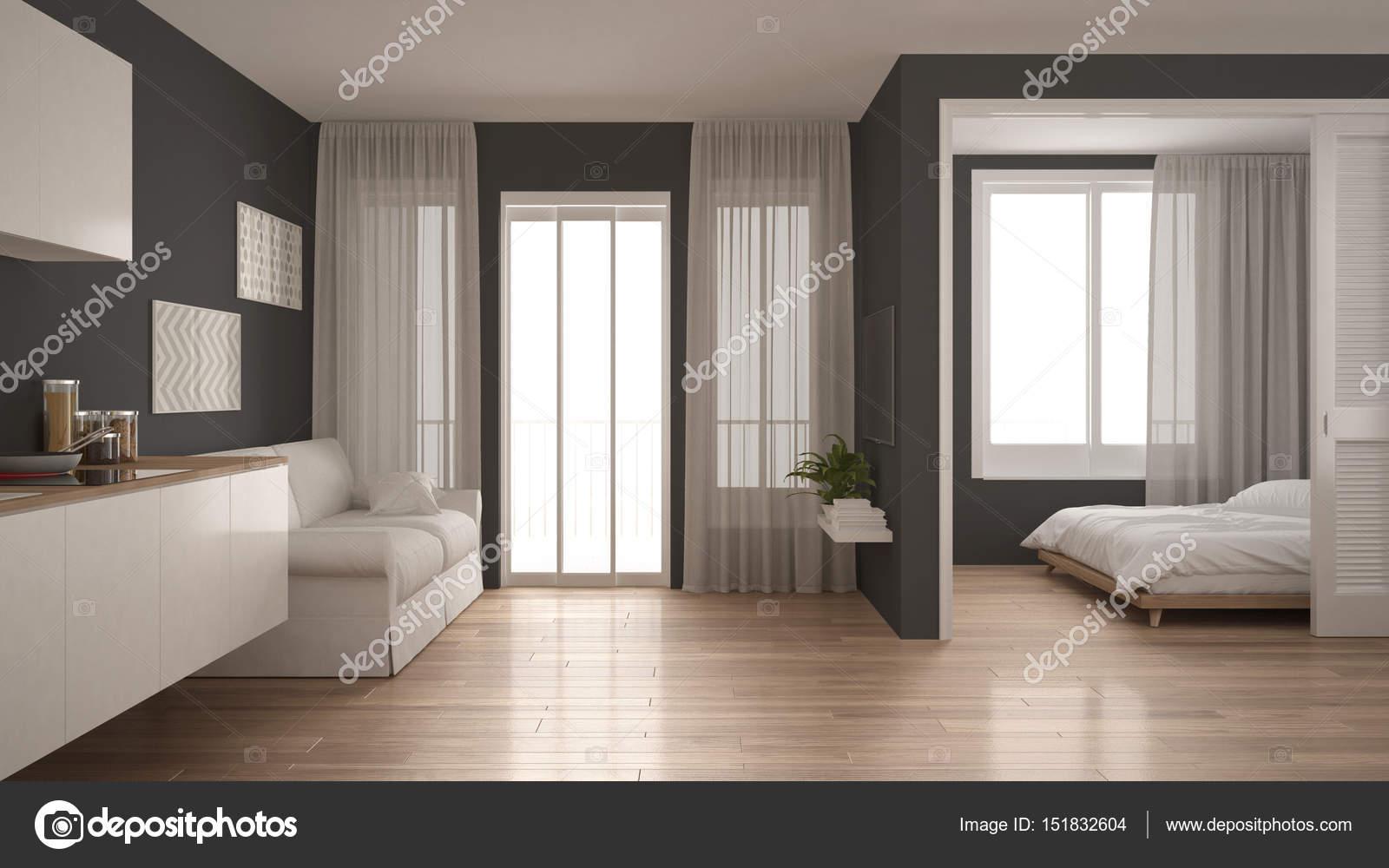 Cucina Soggiorno Camera Da Letto.Piccolo Appartamento Con Cucina Soggiorno E Camera Da Letto