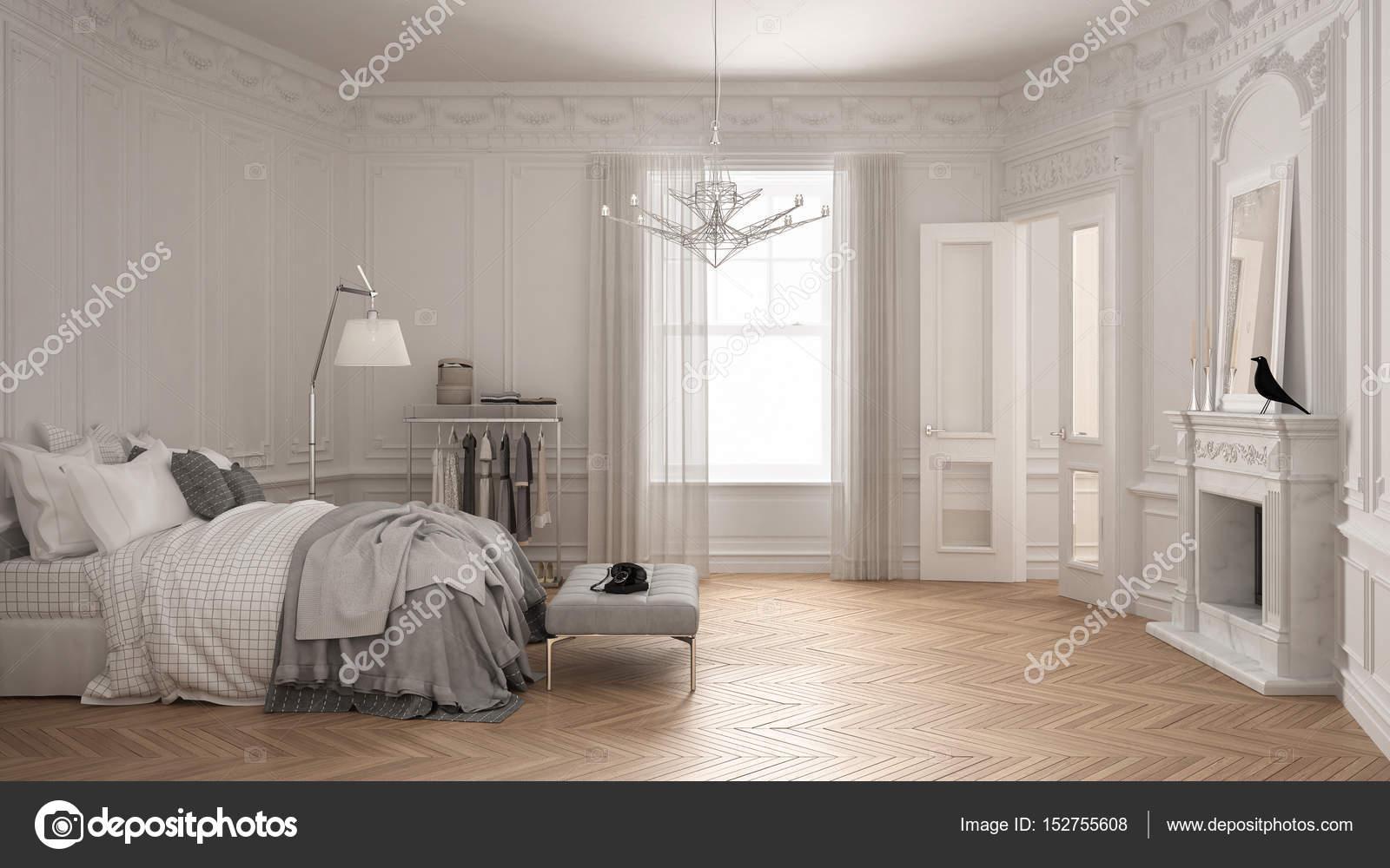 Scandinavische Vintage Woonkamer : Moderne scandinavische slaapkamer in klassieke vintage woonkamer met
