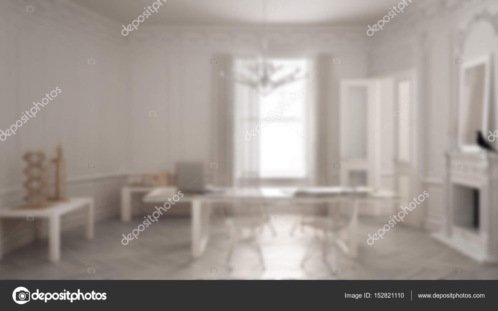 Design Ufficio Moderno : Sfocatura sfondo interior design ufficio moderno minimalista in