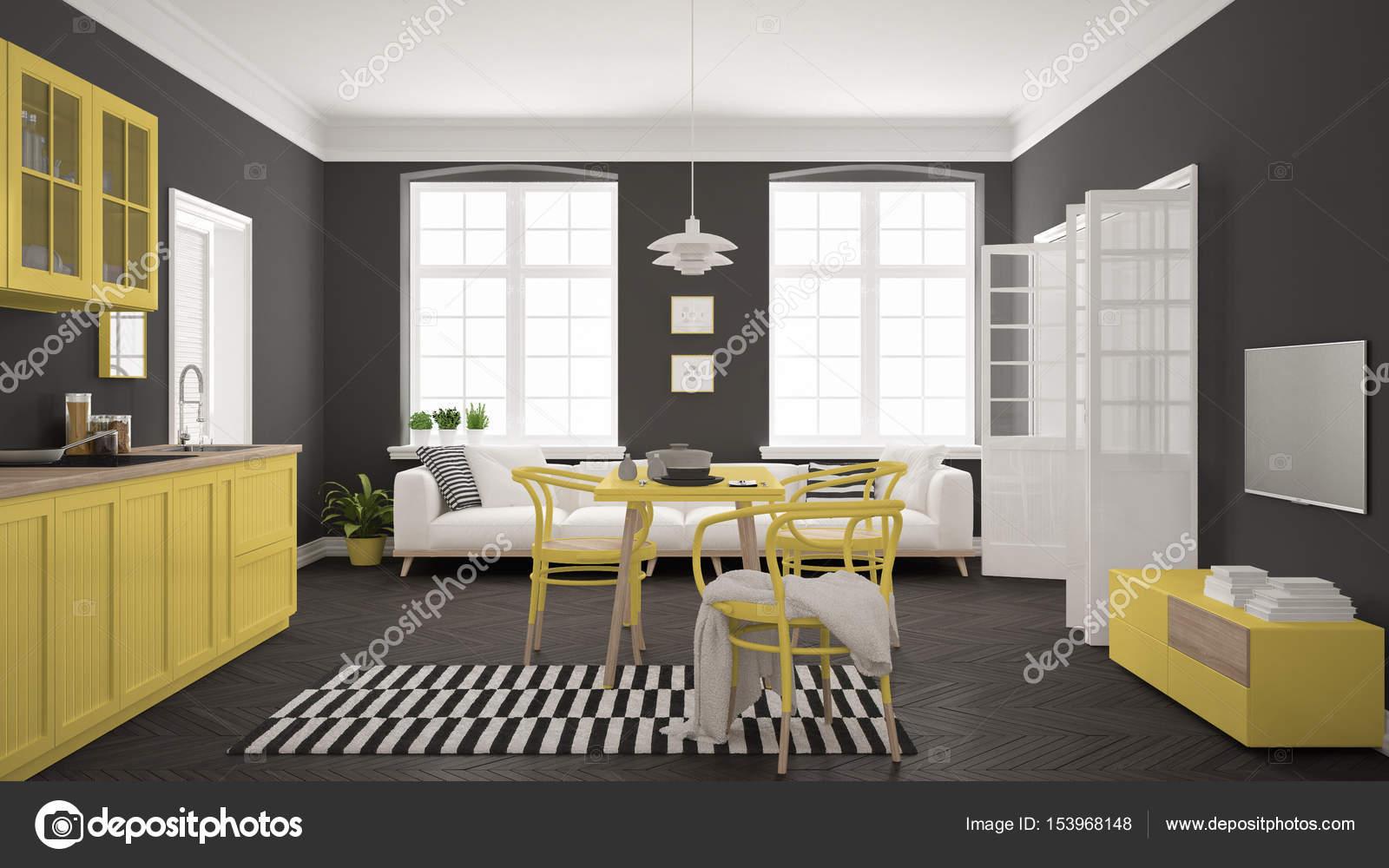 Schön Esstisch Wohnzimmer Das Beste Von Minimalistische Moderne Küche Mit Und Wohnzimmer, Whi