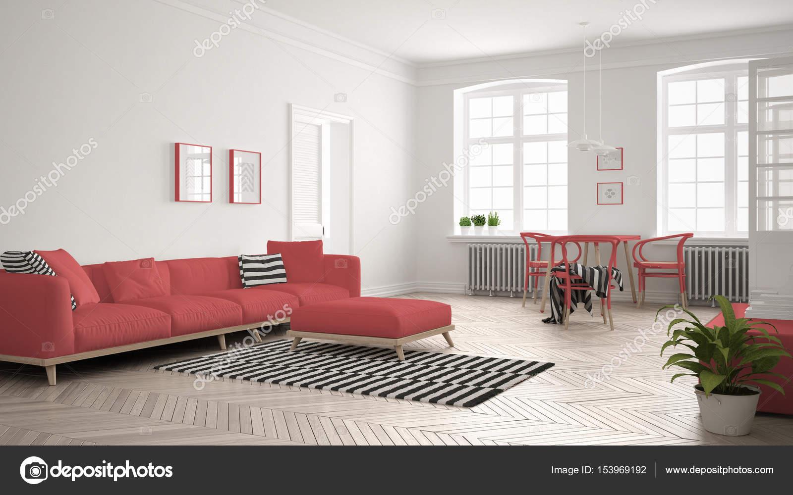 Schön Sofa Scandi Foto Von Bright Minimalist Living Room With And Dining