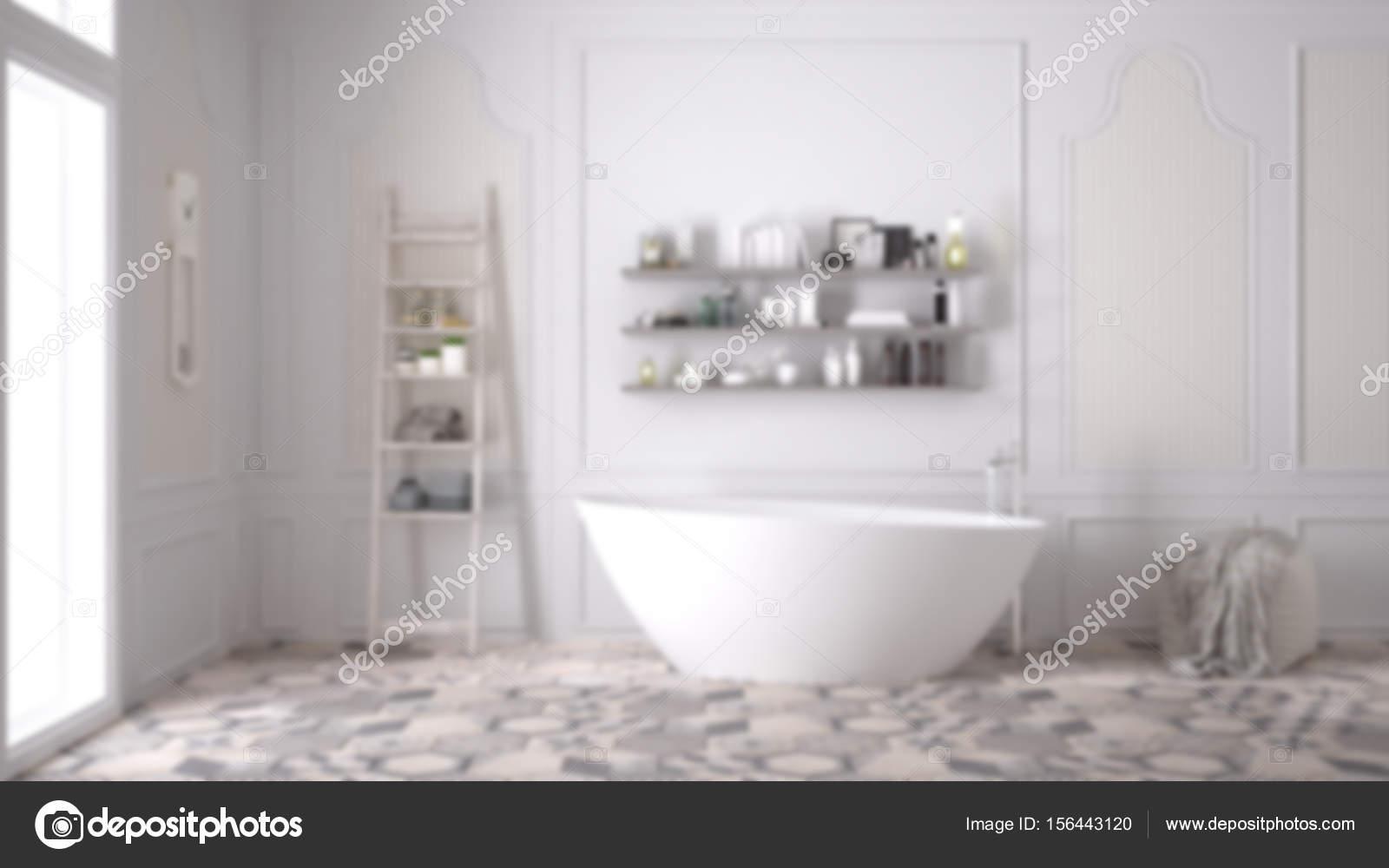 Design Bagno Classico : Sfocatura sfondo interior design bagno scandinavo classico u2014 foto