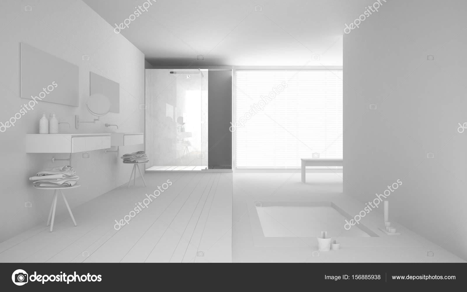 Ventanas minimalistas para baño | Total proyecto blanco minimalista ...