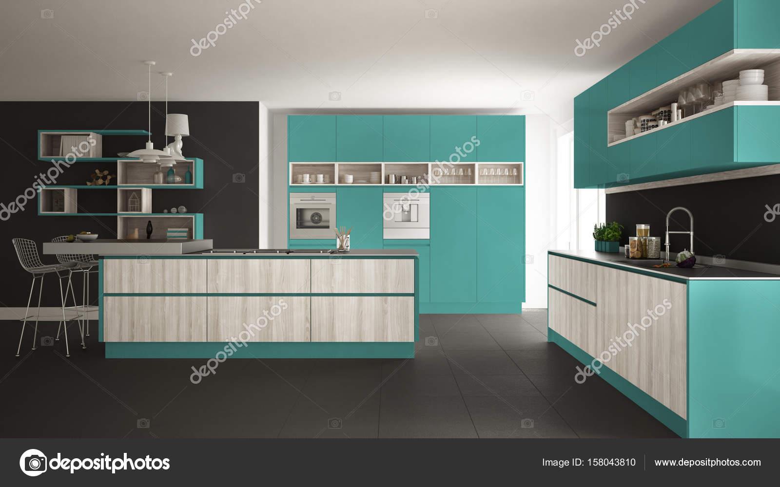 Modern Turquoise Kitchen Adornment - Kitchen Cabinets | Ideas ...