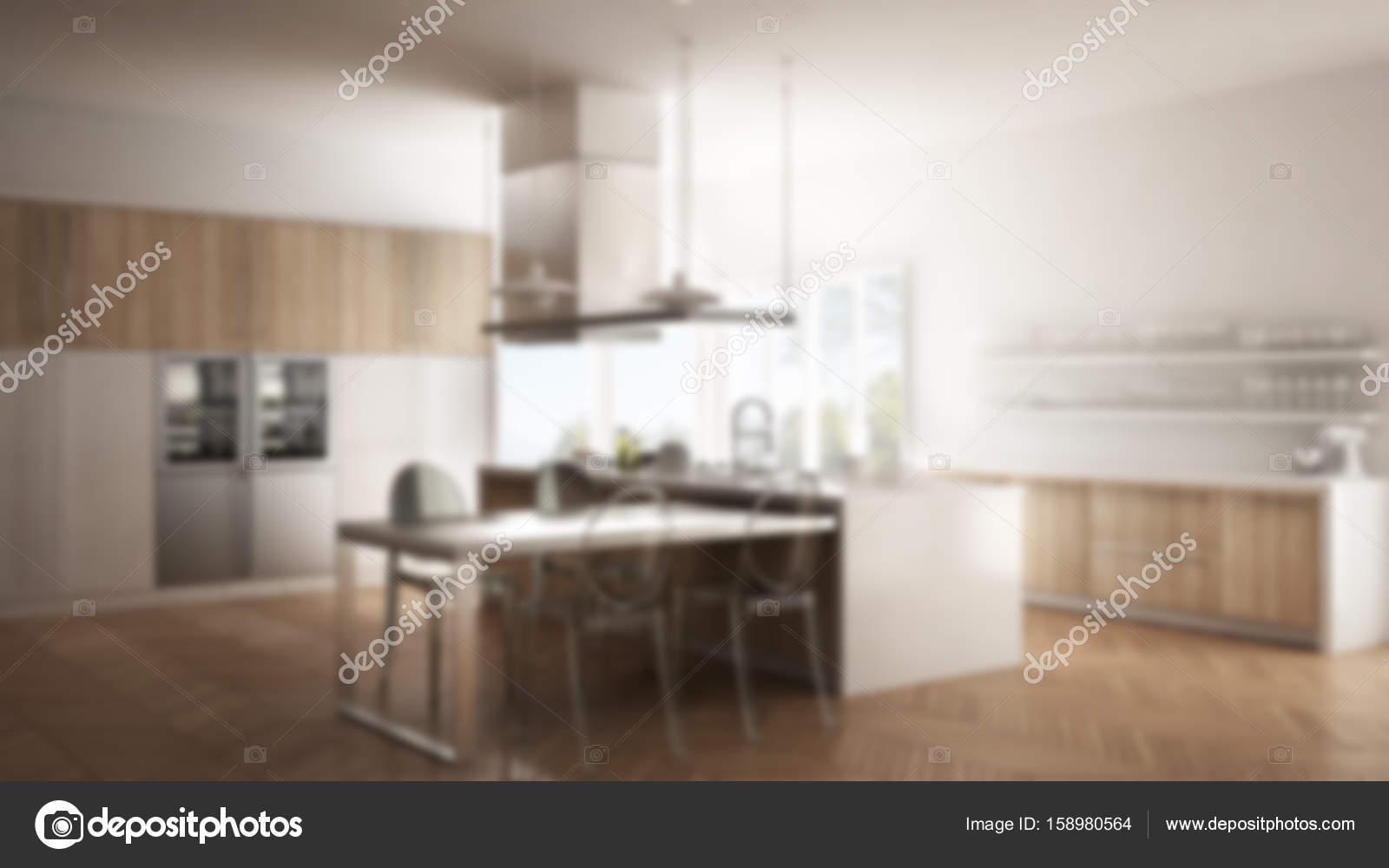Unschärfe Hintergrund Interior Design, minimalistische moderne Küche ...
