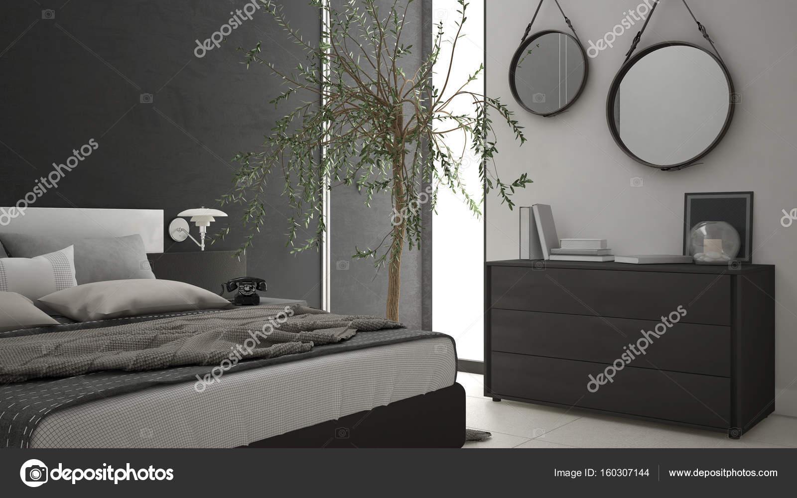 Cassettiera Camera Letto : Moderna camera da letto con finestra cassettiera con cassetti e