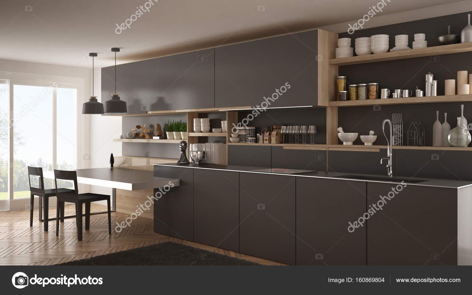 Mesa Moderna Para Cozinha Cozinha Branca Moderna Com Ilha E Com