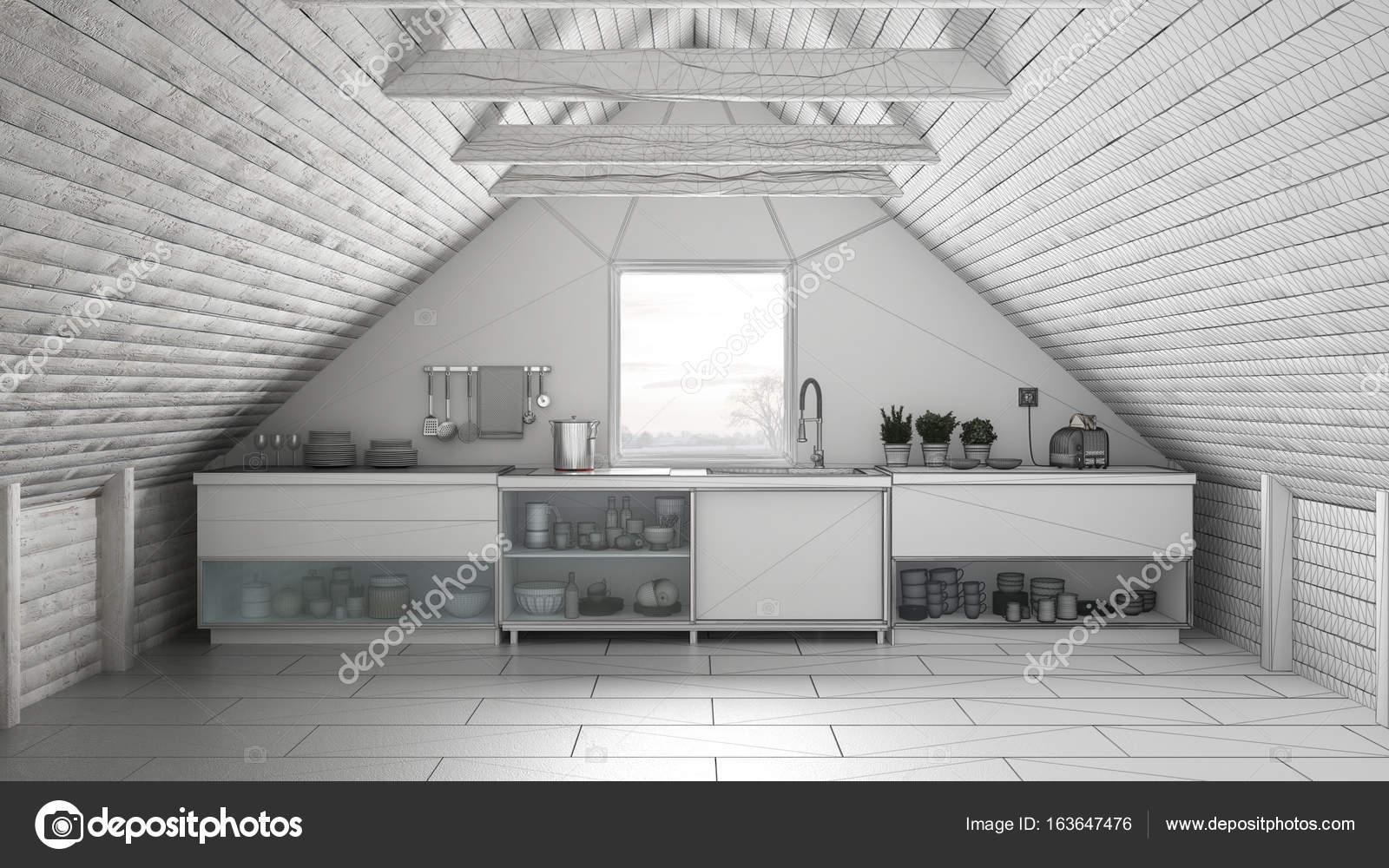 Proyecto inconcluso de cocina industrial de Escandinavia ...