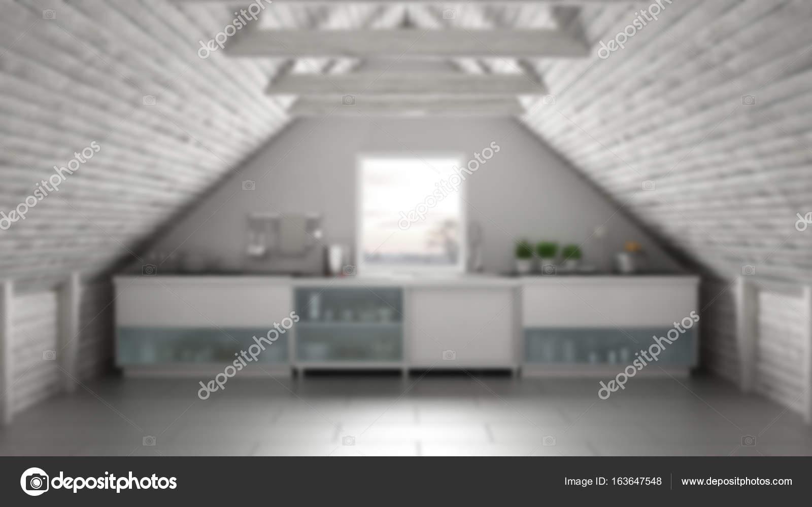 Desenfoque de fondo diseño de interiores, cocina industrial ...