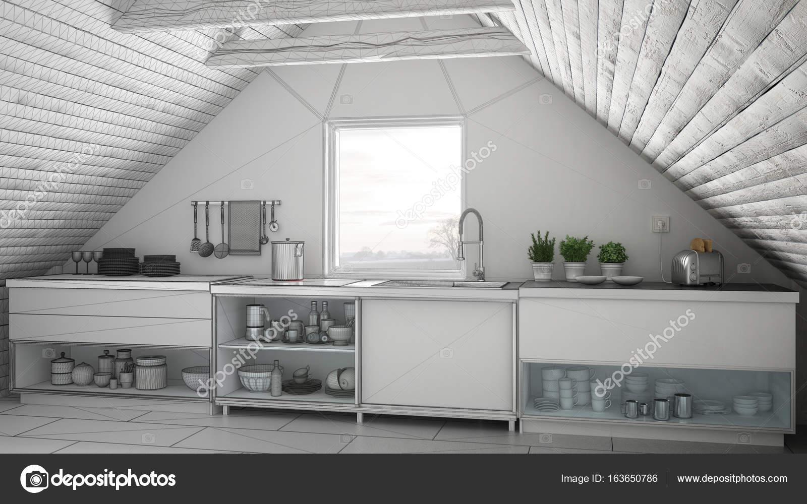 Projeto Inacabado De Cozinha Industrial Escandinava Sot O Mezz
