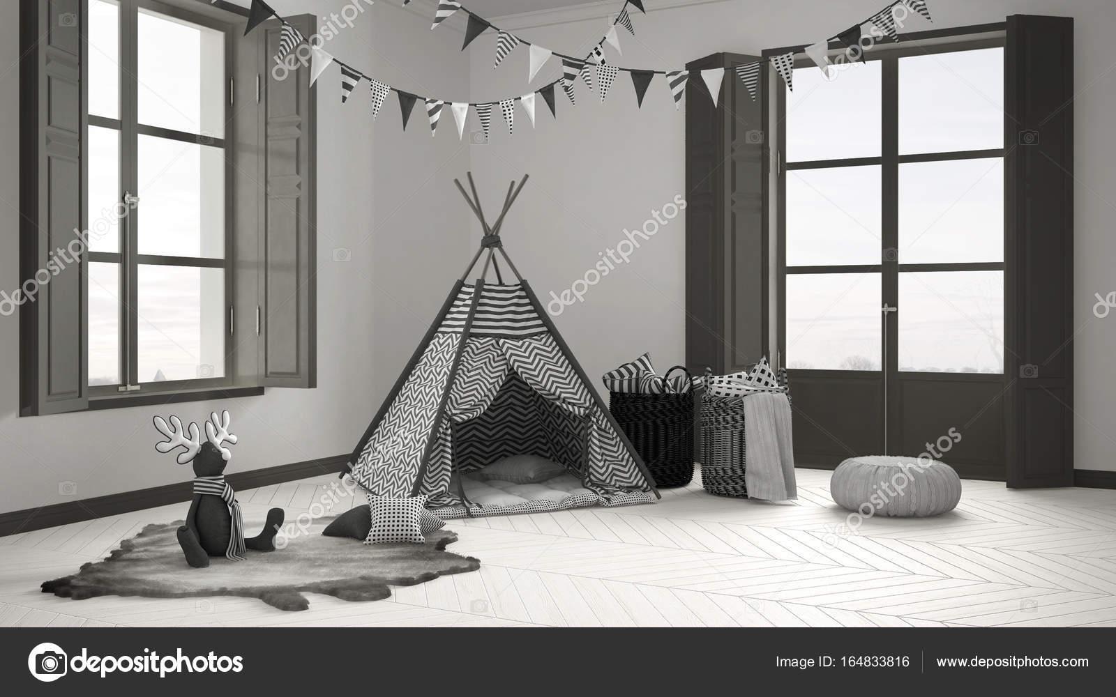 Tende Per Finestra Cameretta Bambini : Camera bambino con mobili moquette e tenda due finestra panoramica