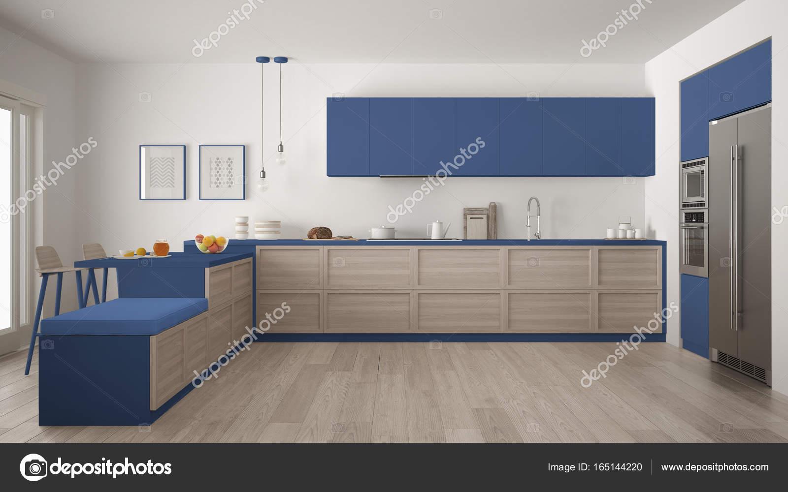 Cozinha Moderna Cl Ssica Com Detalhes Em Madeira E Piso Em Parquet