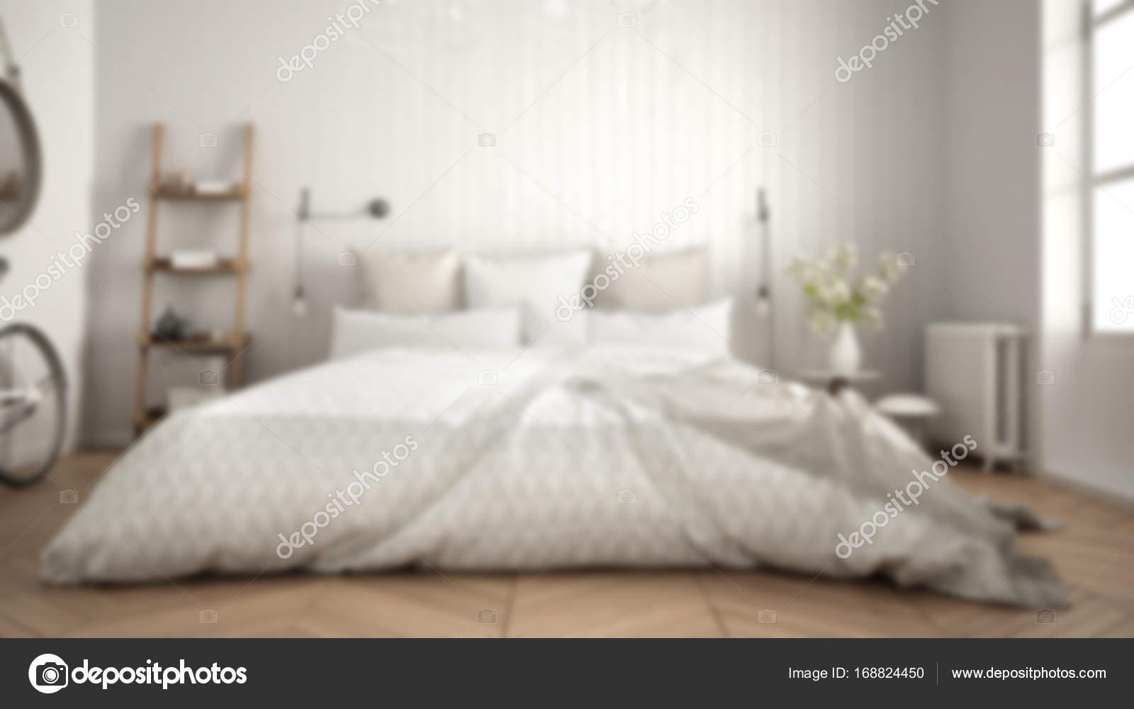 Camera Da Letto Bianco E Grigio : Sfocatura sfondo interior design bianco e grigio w di camera da